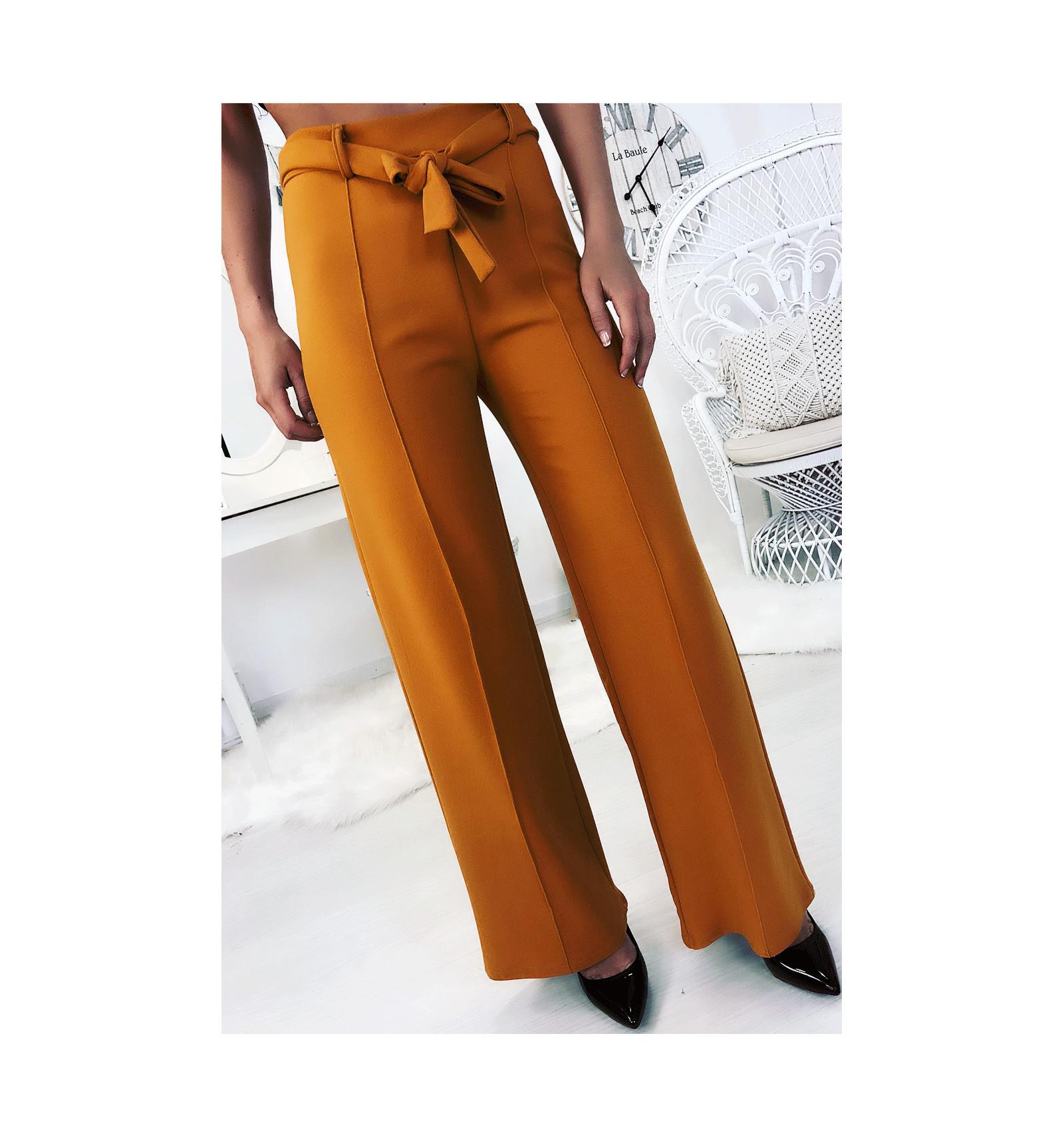 pantalon-palazzo-moutarde-avec-plis-et-ceinture-mode-femme-fashion